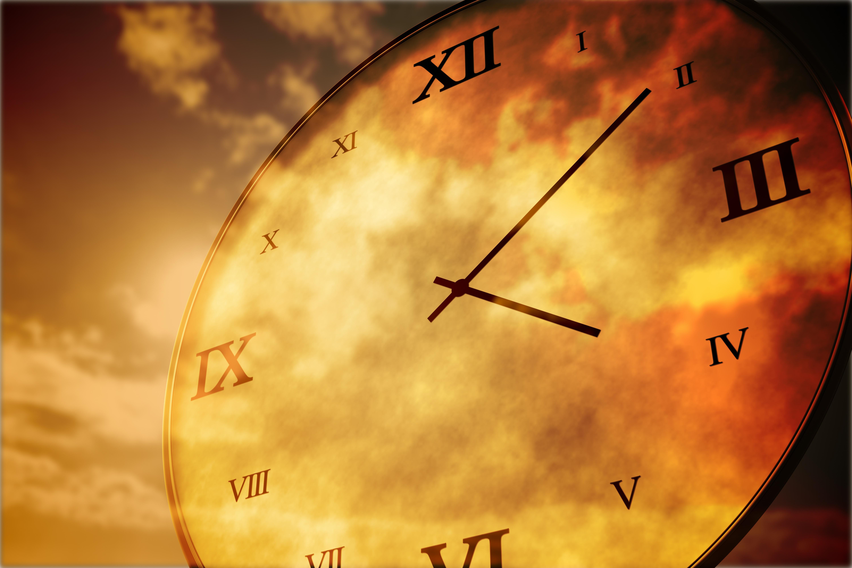 Digitally generated roman numeral clock